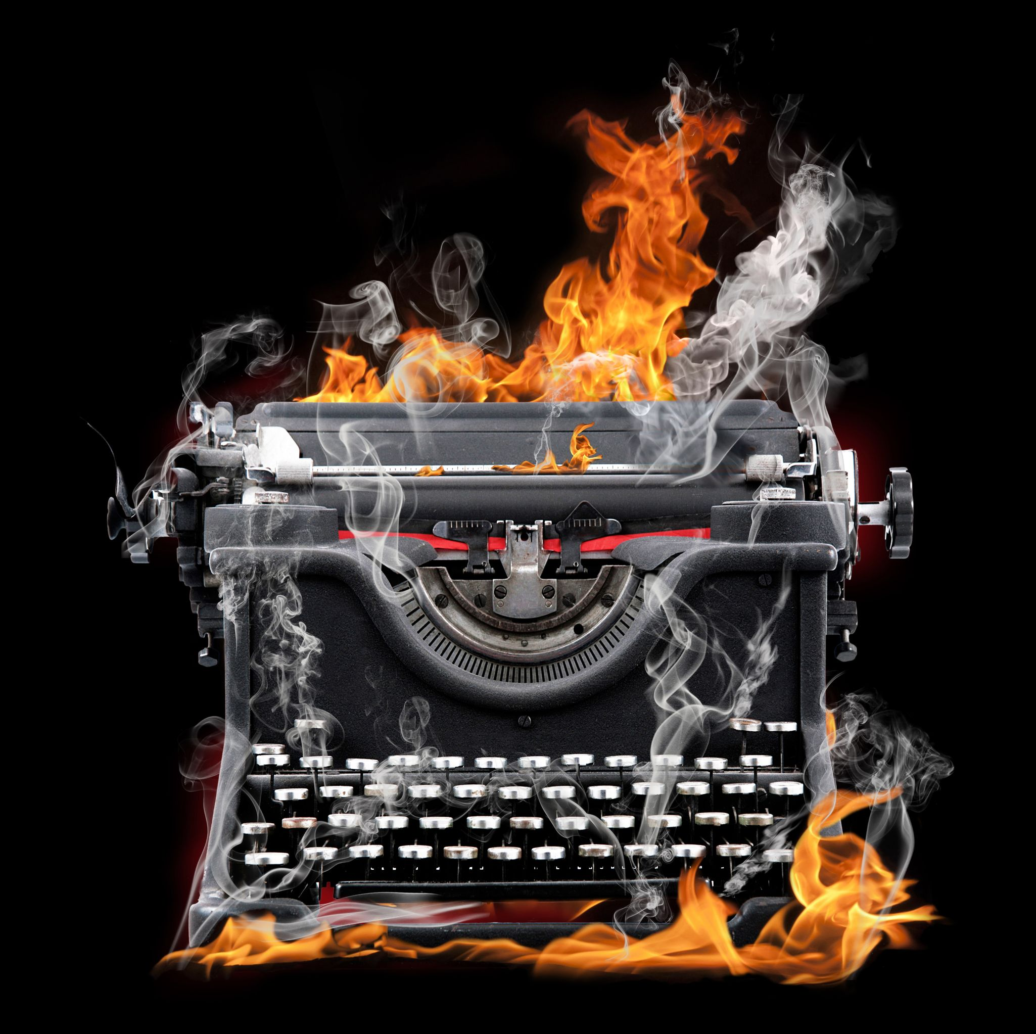 Flame Typewriter