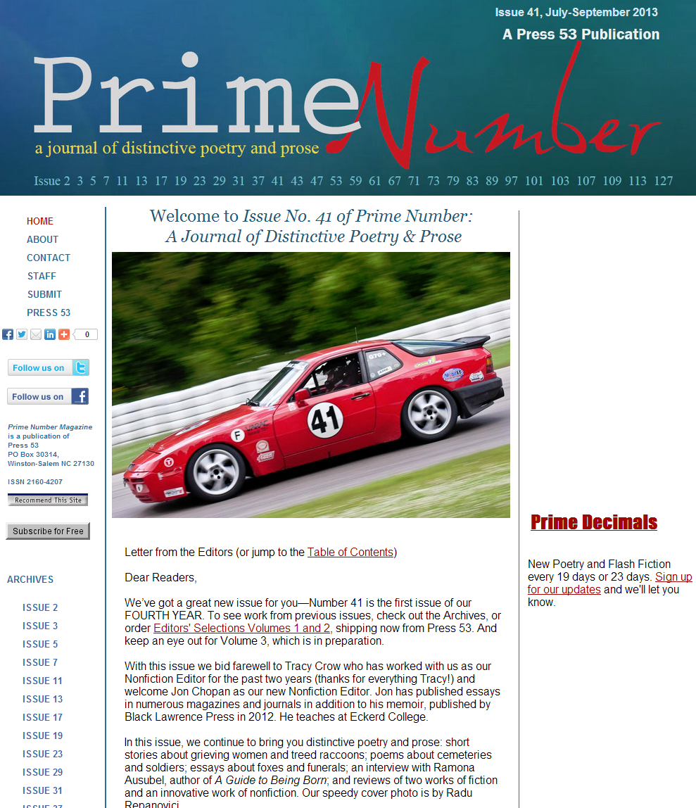 Prime Number Magazine--41 cover