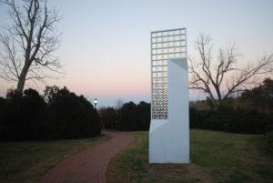VCCA -- sculpture at sunset