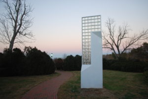 VCCA -- sculpture at sunset